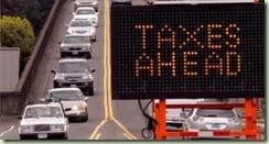sign taxes ahead