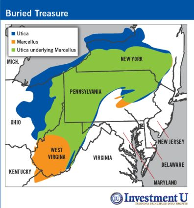 Boundaries Of The Utica And Marcellus Shale Maps Marcellus - Utica shale map