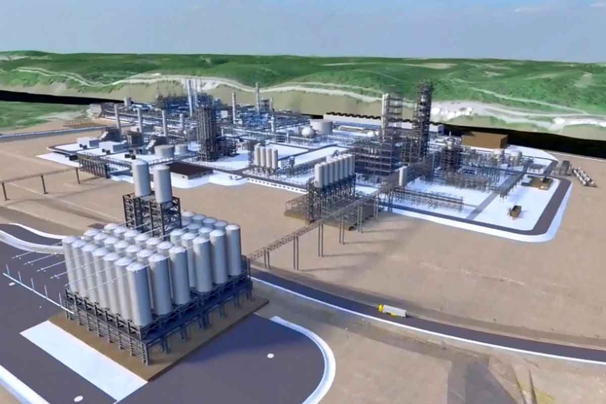 Artist's rendering of Shell Monaca Ethane Complex